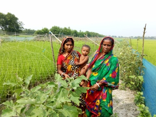 PH 3Woman integrated farmer with daughter-in-law and grand son