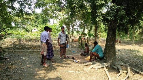 discussions between some of the wsmc and villagers